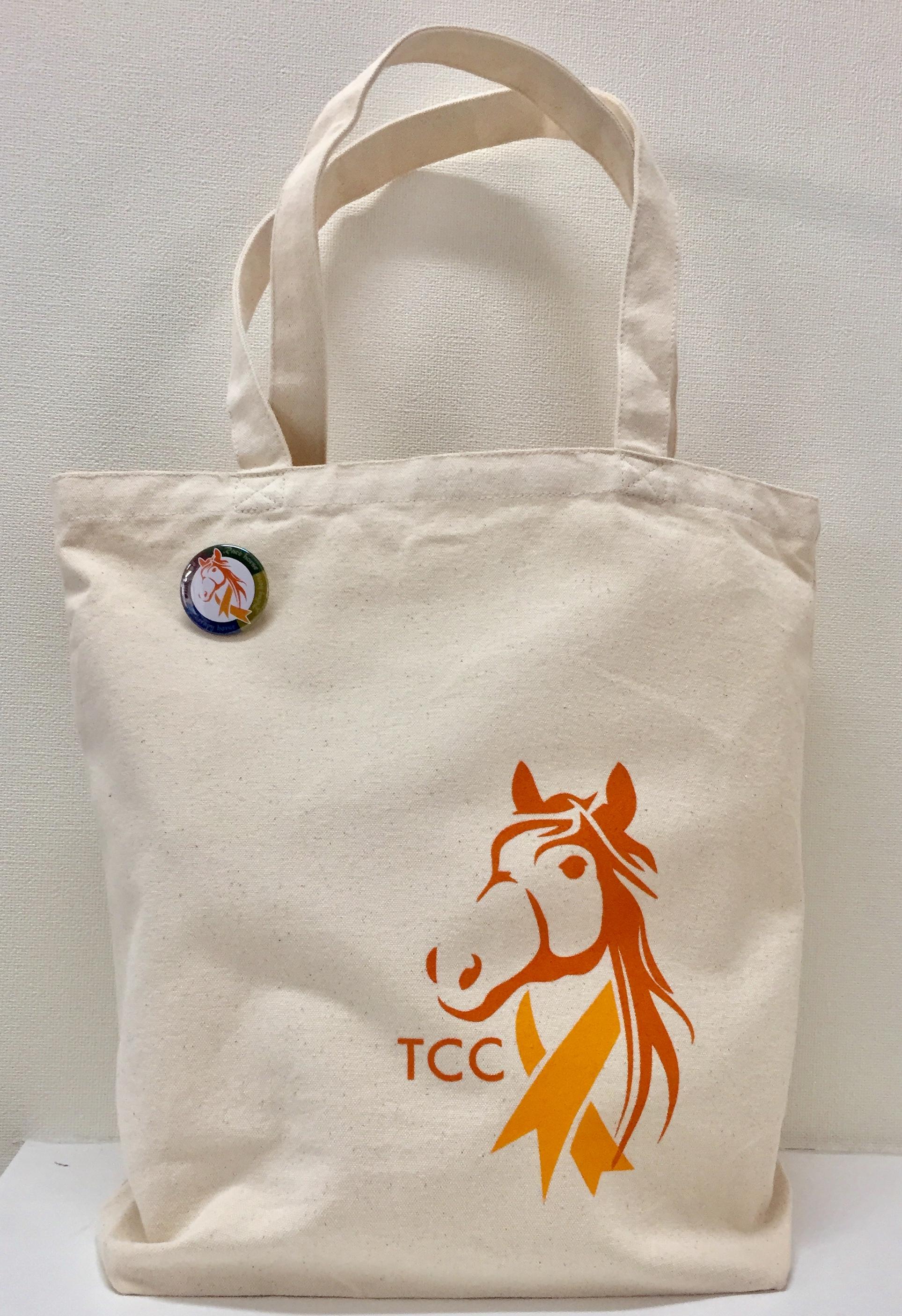 TCCオリジナルトートバッグ大(ネイビー)