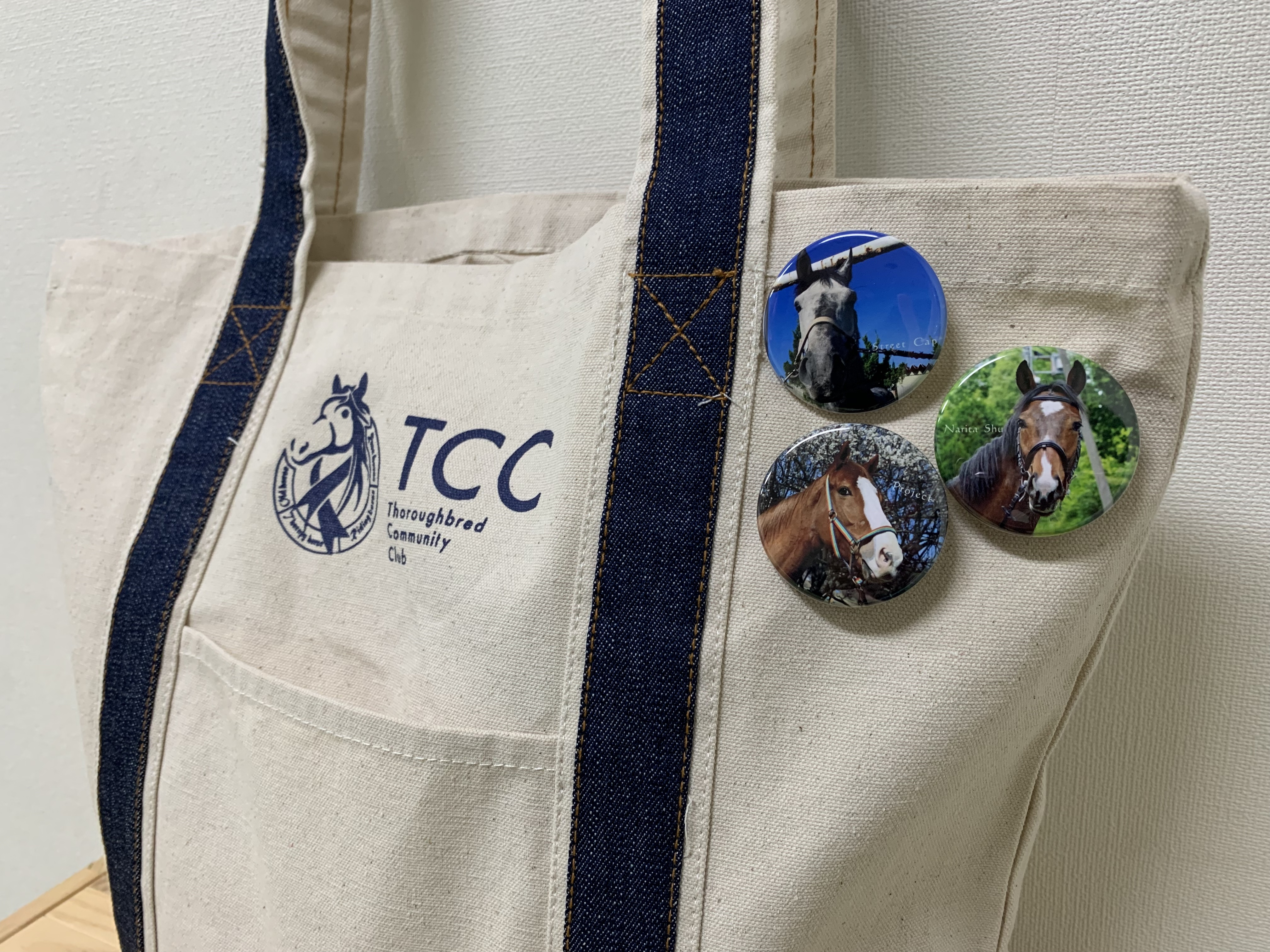 ◉TCCホース 缶バッジ【4個セット】※要指定